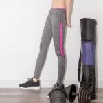 กางเกงออกกำลังกาย แถบสี -Free size (มีให้เลือก 3สี ส้ม ชมพู และม่วง)