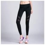 กางเกงออกกำลังกาย  Mesh Stripe Quick Dry Fitness Pants สีดำ (มีให้เลือก 3 ขนาด S M L)