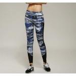 กางเกงออกกำลังกาย Marble Design (สีน้ำเงิน)
